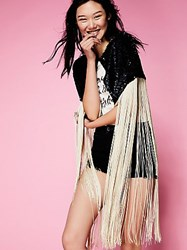 Free People Ibiza Nights Sequin Cape