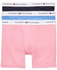 Tommy Hilfiger Men's Cotton Boxer Brief 3 Pack 09Te001 Mulberry