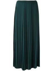 Maison Martin Margiela Mm6 Pleated Midi Skirt Green
