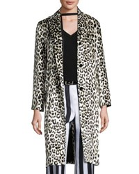 Nina Ricci Leopard Print Three Button Coat Multi Pattern