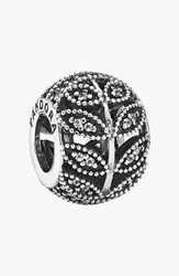 Pandora Design Women's Pandora 'Sparkling Leaves' Bead Charm Sterling Silver Clear