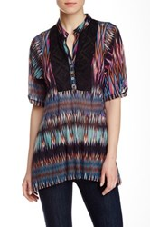Weston Wear Cristie Printed Mesh Blouse Multi