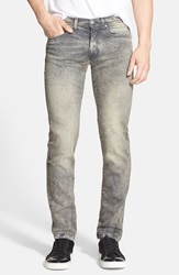 Versace Acid Wash Stretch Denim Jeans Acid Grey