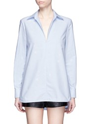 Alexander Wang Bleached Effect Cotton Tunic Blue