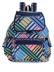 Nautica Captain's Quarter Backpack Multi Stripe