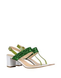 George J. Love Thong Sandals Acid Green