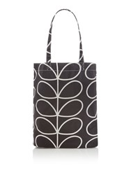 Orla Kiely Linear Stem Packaway Shopper Black