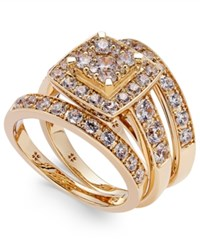 Macy's Diamond Engagement Ring Bridal Set 2 Ct. T.W. In 14K White Gold Yellow Gold