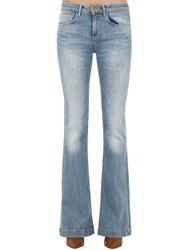 L'autre Chose Flared Washed Cotton Denim Jeans