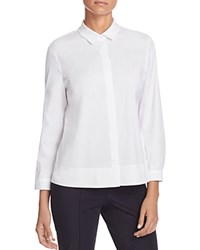 Basler Aline Button Down Blouse Off White