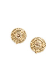 Lauren Ralph Lauren Bridal Vintage Topaz Stud Clip Earrings Gold