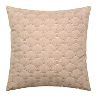 Bloomingville Shell Patterned Cotton Cushion Brown 50X50cm