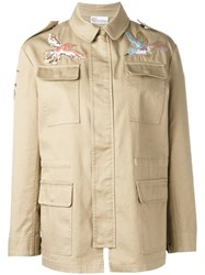 Red Valentino Bird Embroidery Jacket Nude Neutrals