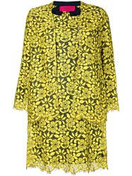Christian Lacroix Vintage Floral Lace Dress And Jacket Yellow And Orange