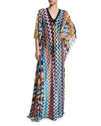 Missoni Mare Zigzag Print Long Caftan Coverup Size 40 6 Zig Zag All Over