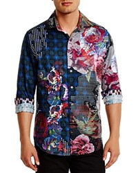 Robert Graham Limited Edition Embroidered Classic Fit Button Down Shirt Black