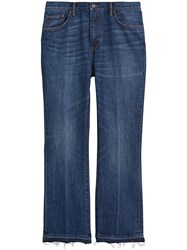 Burberry Slim Fit Bootcut Jeans Blue