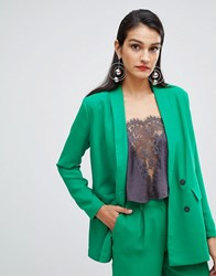 Selected Femme Double Breasted Long Blazer Jolly Green