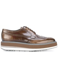 Prada Lace Up Shoes Brown