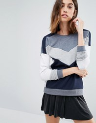 Vero Moda Colourblock Sweatshirt Navy