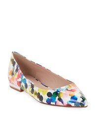 Dune Hydie Patent Point Toe Flats Multi Colored