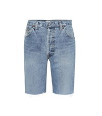 Re Done The Long Denim Shorts Blue