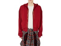 Haider Ackermann Men's Embroidered Cotton French Terry Hoodie Red No Color