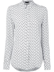 Joseph 'New Garcon' Bird Print Shirt White