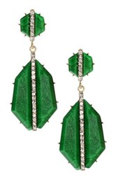 Amrita Singh Art Deco Earrings Green