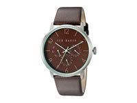 Ted Baker Classic Collection Custom Multifunction Sub Eye W Contrast Detail Date Leather Strap Watch Brown Watches