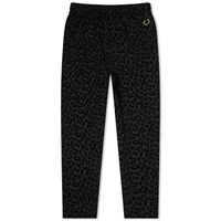 Fred Perry X Miles Kane Leopard Print Track Pant Black