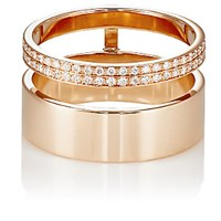 Repossi Women's Berbere Module Double Band Cage Ring Pink