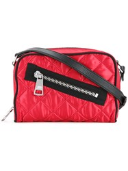 Sonia Rykiel By Quilted Cross Body Bag Red