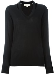 Michael Michael Kors V Neck Sweater Black