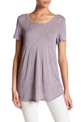 Bobeau Scoop Neck Short Sleeve Tee Gray