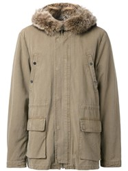 Yves Salomon Homme Padded Parka Brown
