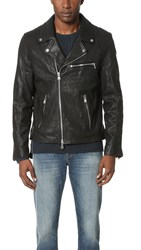 Baldwin Denim Johnny Leather Moto Jacket Black