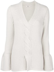 Liska Cashmere Cable Knit Sweater Nude And Neutrals