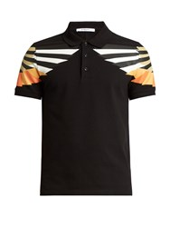 Givenchy Cuban Fit Wing Print Polo Shirt Black Multi