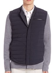 Vince Quilted Nylon Down Fill Gilet Black