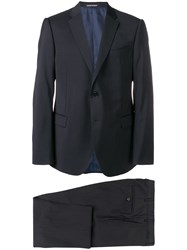 Emporio Armani Classic Two Piece Suit Blue