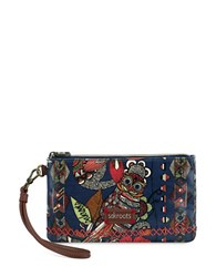 Sakroots Artist Circle Charging Wristlet Midnight Blue