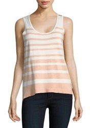 Jones New York Striped Knit Tank Top Sorbet