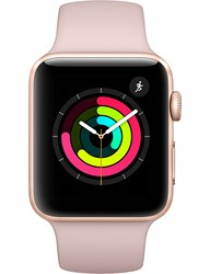 Apple Watch Series 3 Gps Cellular Gold Aluminium Case With Pink Sand Sport Band 42Mm