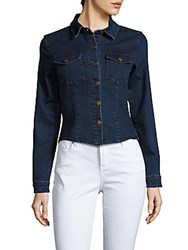 Minkpink Breaking Ties Cotton Blend Denim Shirt Indigo