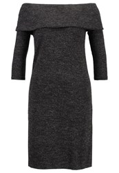 Jdyfifth Jumper Dress Dark Grey Melange Mottled Dark Grey