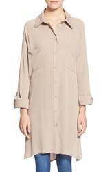 Junior Women's See You Monday Button Front Tunic Shirt