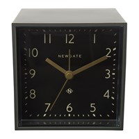 Newgate Cubic Alarm Clock Gravity Grey Black Dial