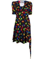 Moschino Letters Print Wrap Dress 60