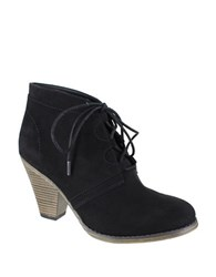 Mia Fianna Suede Lace Up Ankle Boots Black